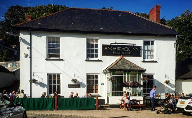 Angarrack Inn 17 July - The Sun comes out and so do many of our local friends and customers - a busy evening and All at a safe d